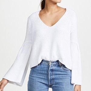 Free People Damsel Bell Pullover Sweater White